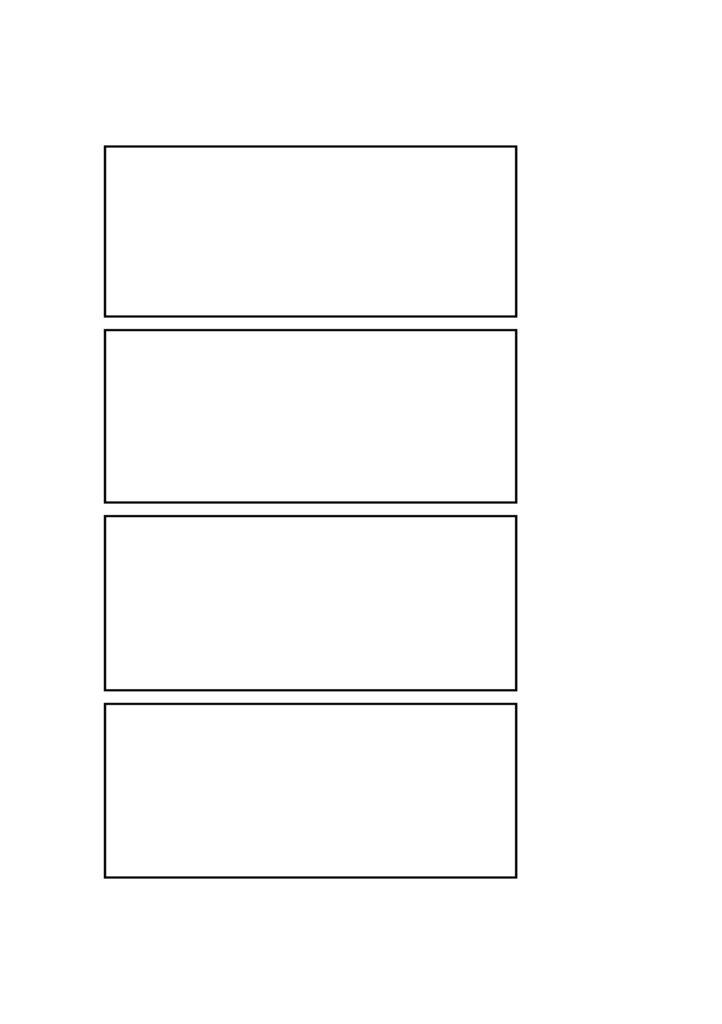 4コマ漫画 マンガ テンプレート 素材 データ A4・A5・B4・B5 タイトル右