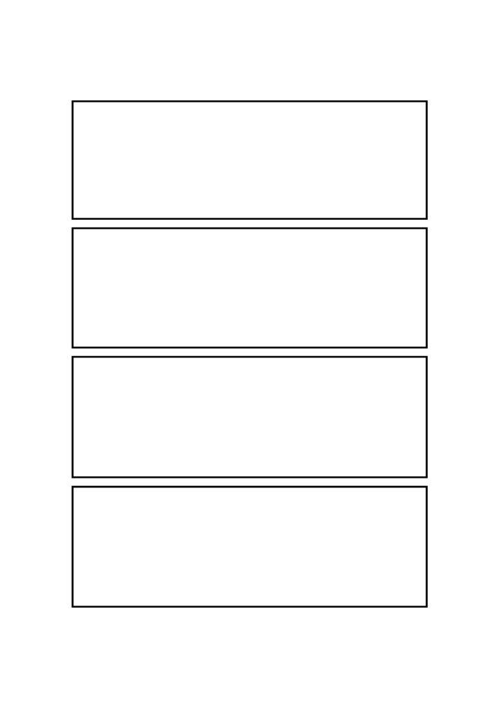4コマ漫画 マンガ テンプレート 素材 データ A4・A5・B4・B5 ワイドタイプ