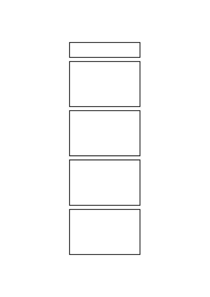 4コマ漫画 マンガ テンプレート 素材 データ A4・A5・B4・B5